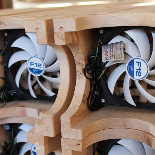 Leiser elektrischer Lüfter für besser Luftzirkulation